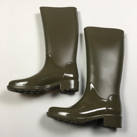 1df3fcf5651bd Sam Edelman Sydney Olive Green Rubber Rain Boots